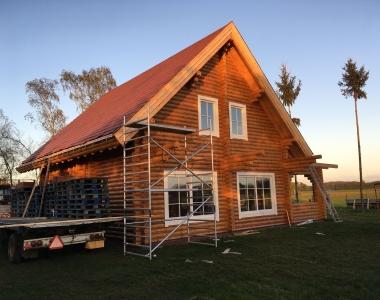 Prachtige loghuis voor permanente bewoning